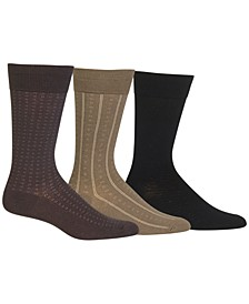 Ralph Lauren 3 Pack Patterned Dress Men's Socks