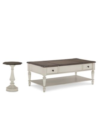 barclay table furniture set 2pc set coffee table u0026 octagon end table
