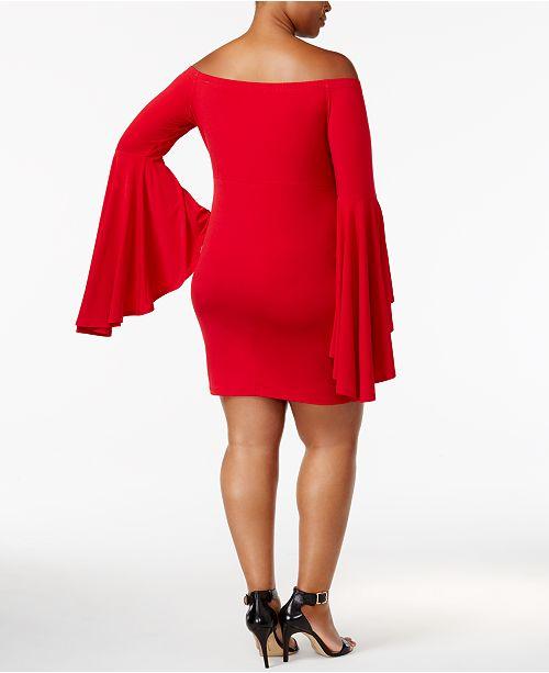 Soprano Trendy Plus Size Bell Sleeve Dress Dresses Plus Sizes
