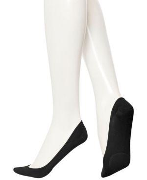 Women'S Padded Hidden Microfiber Liner Socks in Black