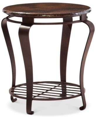 Clark Copper Round End Table