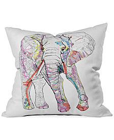 "Deny Designs Casey Rogers Elephant 1 16"" Square Decorative Pillow"