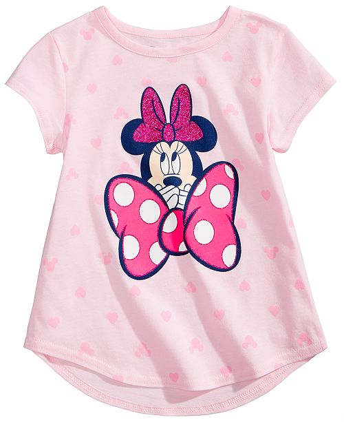 cf45e636e Disney Minnie Mouse-Print Cotton T-Shirt, Toddler Girls & Reviews ...