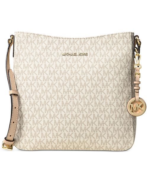 61dd87fa31bd1 Michael Kors Signature Jet Set Travel Large Messenger   Reviews ...