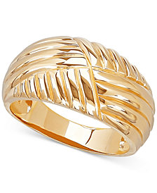 Textured Dome Ring in 10k Gold