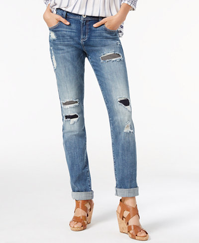 INC International Concepts Ripped Boyfriend Jeans, Only at Macy's