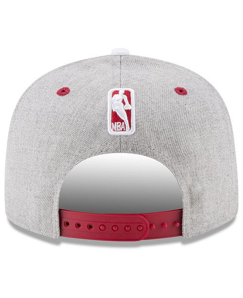 los angeles 0e9aa 46a2f New Era Chicago Bulls White Vize 9FIFTY Snapback Cap ...