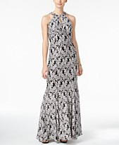 8bbfd0deea36 Nightway Lace Keyhole Mermaid Halter Gown