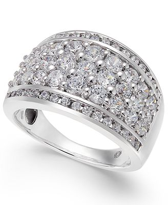 Diamond Cluster Wide Ring (2 ct. t.w.) in 14k White Gold
