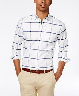 Brooks Brothers Red Fleece Men's Slim-Fit Windowpane Shirt