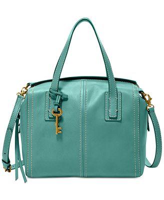 Fossil Emma Leather Satchel - Handbags & Accessories - Macy's