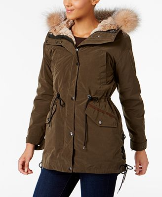Andrew Marc Rabbit-Fur-Lined 3-in-1 Anorak Jacket - Coats - Women ...