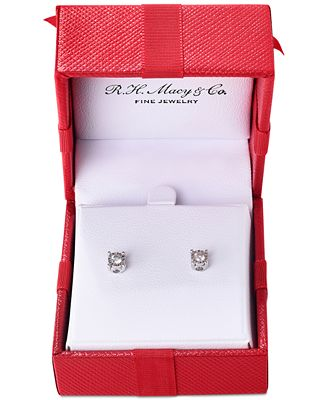 Trumiracle Diamond Stud Earrings 3 8 Ct T W In 14k Gold White