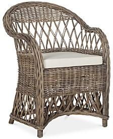 Inez Wicker Club Chair, Quick Ship