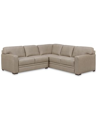 Furniture Avenell 2 Pc Leather L Shaped Sectional Sofa Created