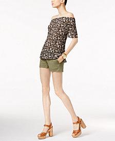 MICHAEL Michael Kors Off-The-Shoulder Top & Mini Shorts