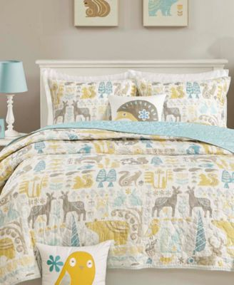 Woodland 3-Pc. Quilted Twin Coverlet Set