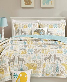 INK+IVY Kids Woodland Quilted Coverlet Sets