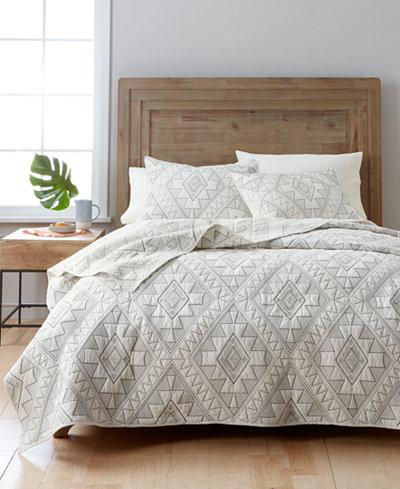 Martha Stewart Collection Canyonlands 100% Cotton Embroidered ... : macys bedding quilts - Adamdwight.com