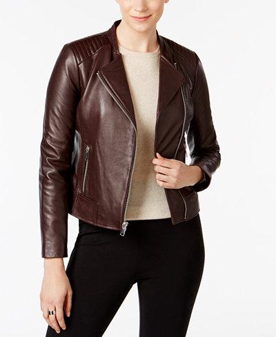 Marc New York Selena Leather Moto Jacket - Coats - Women - Macy's