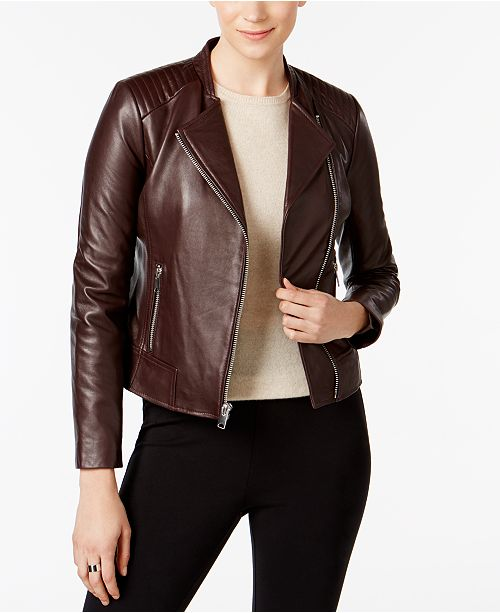 f91f7e22deb1 Marc New York Selena Leather Moto Jacket - Coats - Women - Macy s
