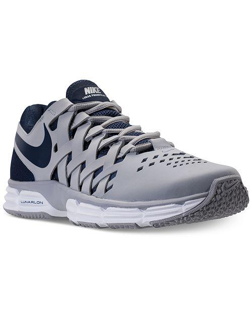 68e9dd209bb6 Nike Men s Lunar Fingertrap Training Sneakers   Reviews - Finish ...