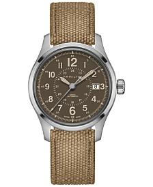 Hamilton Men's Swiss Automatic Khaki Field Brown Canvas Strap Watch 40mm