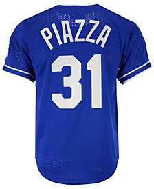 Mitchell & Ness Men's Mike Piazza Los Angeles Dodgers Authentic Mesh Batting Practice V-Neck Jersey