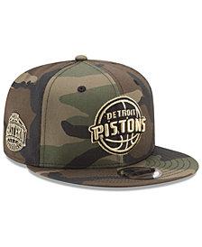 New Era Detroit Pistons Metallic Woodland 9FIFTY Snapback Cap