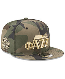 New Era Utah Jazz Metallic Woodland 9FIFTY Snapback Cap