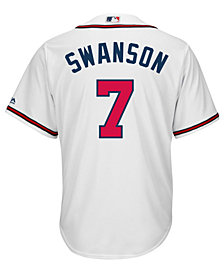 Majestic Men's Dansby Swanson Atlanta Braves Player Replica CB Jersey