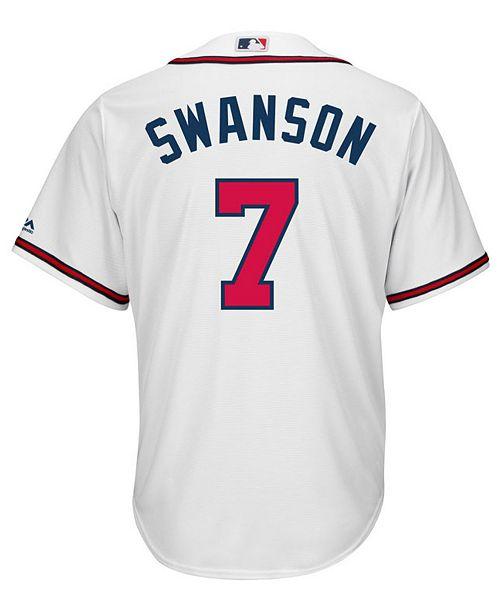 cc249a798 ... Majestic Men s Dansby Swanson Atlanta Braves Player Replica CB Jersey  ...