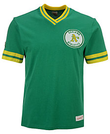 Mitchell & Ness Men's Oakland Athletics Coop Overtime Vintage Top