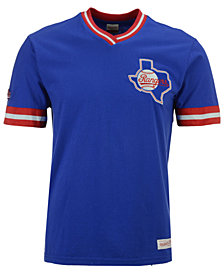 Mitchell & Ness Men's Texas Rangers Coop Overtime Vintage Top