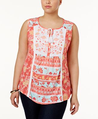 f1a14d72599 Style   Co Plus Size Embroidered Peasant Top
