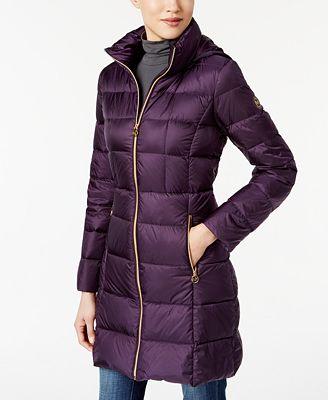MICHAEL Michael Kors Packable Down Coats - Women - Macy's