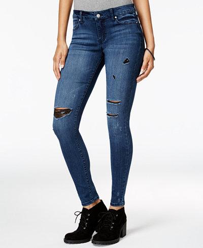 Celebrity Pink Juniors' Dawson Infinite Stretch Super-Skinny Ripped Jeans