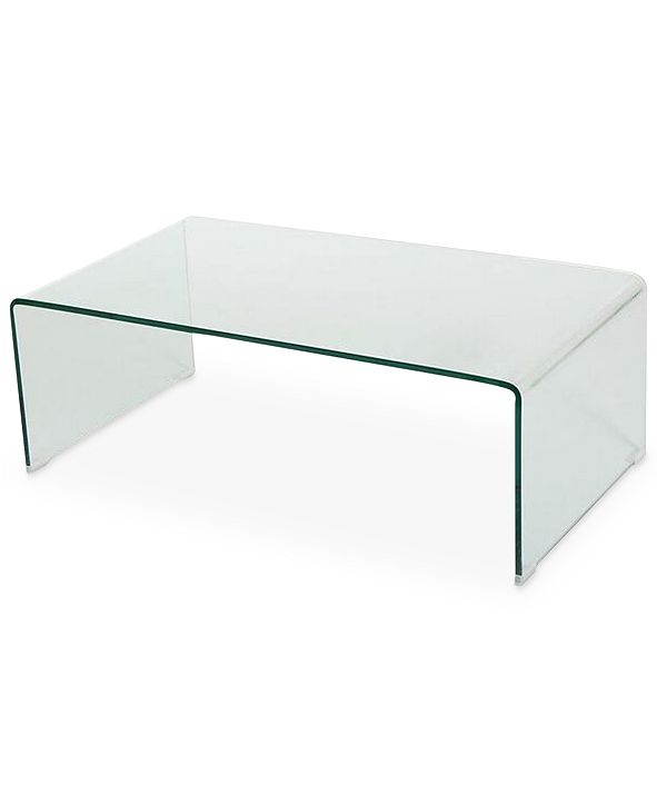 Noble House Senuri Glass Coffee Table