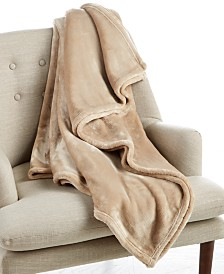 """CLOSEOUT! Charter Club Cozy Plush 50"""" x 70"""" Throw, Created for Macy's"""
