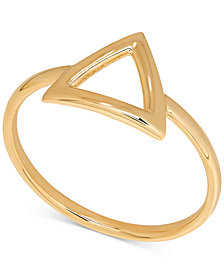 Polished Triangle Statement Ring in 14k Gold