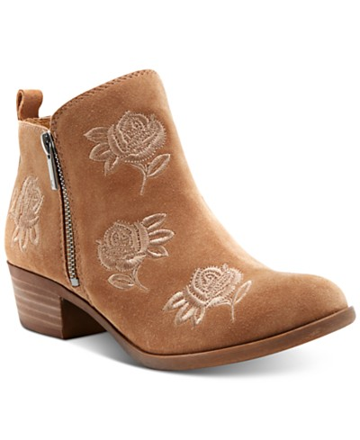 Lucky Brand Women's Basel Embroidery Booties, Created for Macy's