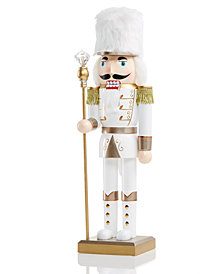 "Holiday Lane 14"" Wood Shimmer and Shine Nutcracker, Created for Macy's"
