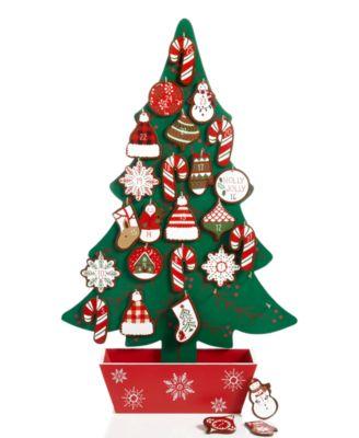 Holiday Lane Wood Christmas Tree Advent Calendar, Created for ...