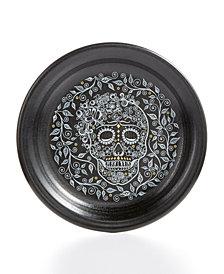 Fiesta Skull and Vine Appetizer Plate
