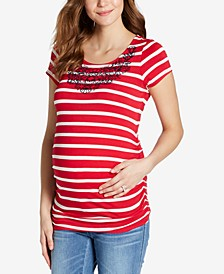 Maternity Embroidered T-Shirt