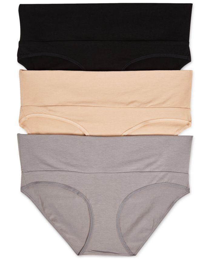 Motherhood Maternity 3-Pk. Fold-Over Panties & Reviews - Maternity - Women - Macy's