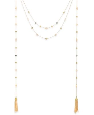 Image of INC International Concepts Gold-Tone Multi-Layer Illusion Tassel Necklace, Created for Macy's