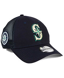 New Era Seattle Mariners Team Trucker Patch 9FORTY Snapback Cap