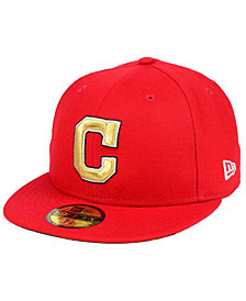 New Era Cleveland Indians Exclusive Gold Patch 59FIFTY Cap