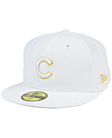 New Era Chicago Cubs White On Metallic 59FIFTY Cap